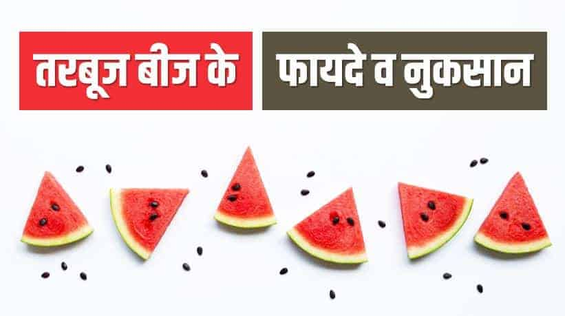 तरबूज बीज के फायदे नुक्सान Watermelon Seeds Benefits and Side-effects in Hindi